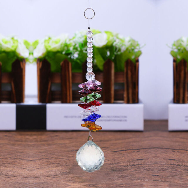 Home Decorations Glass Crystal Ball Chandelier Part Prism Hanging Pendants