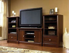 New Cherry Wood Entertainment Center Living Room Furniture TV Stand Storage Unit