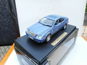 ANSON-1-18-MERCEDES-BENZ-CLK-COUPE-230-COMPRESSOR-PURPLE-METAL-DEALER-BOX