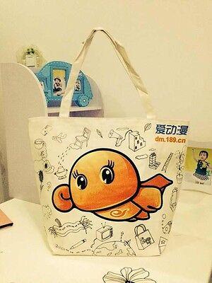 Women Canvas Cartoon Shopping Single Shoulder Handbag Beach Tote Satchel Bag New