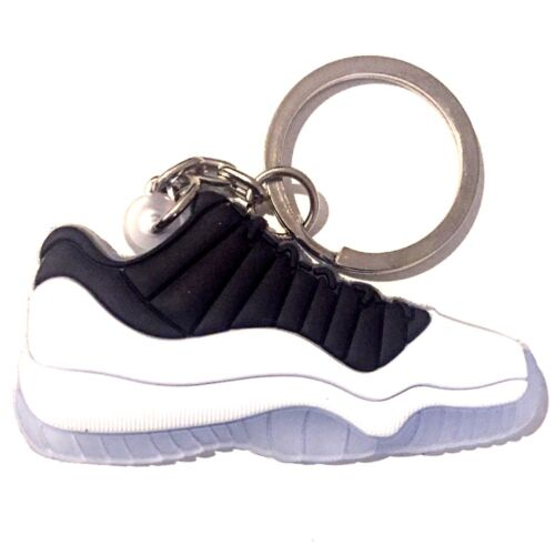 AIR JORDAN XI 11 LOW TUXEDO CONCORD INFRARED SNEAKER SHOES KEY CHAIN RING HOLDER