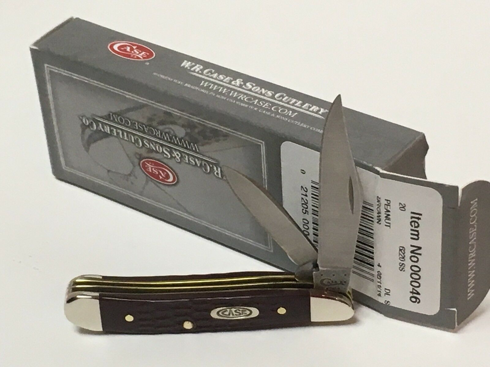 CASE XX BROWN DELRIN SYNTHETIC POCKET KNIFE PEANUT 6220 Itm 00046