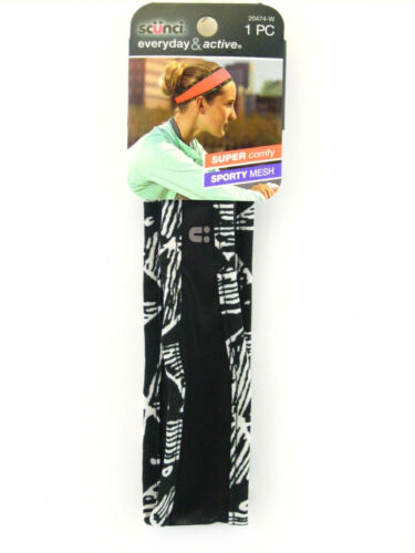 SCUNCI EVERYDAY /& ACTIVE SPORTY TAPERED MESH HEAD BAND 1 PC. 20474