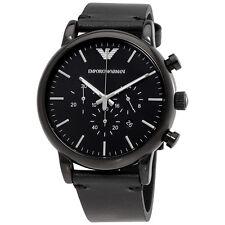 Emporio Armani Dress Chronograph Black Dial Mens Watch AR1918