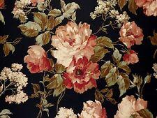 Richloom Floral Bouquet JAVA Rose Aqua Cotton Home Decor Drapery Sewing Fabric