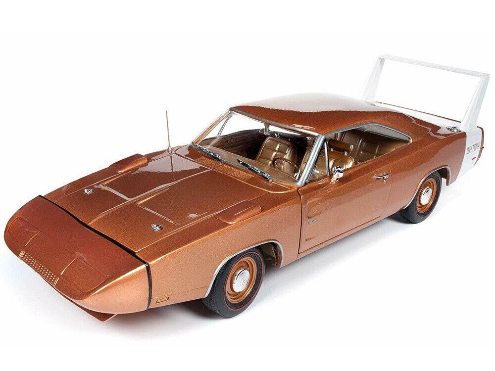 Autoworld 1 18 1969 DODGE Charger Daytona modellolo Diecast Bronzo Mettuttiico AMM1168