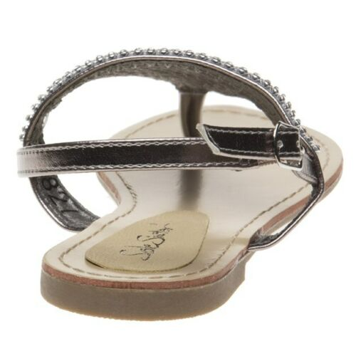 New Womens SOLESISTER Metallic Bray Synthetic Sandals Flats Buckle