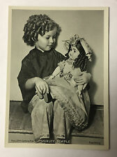 Shirley Temple 1937 Union Dresden Film Star Series 3 5X7 Cigarette Photo Card