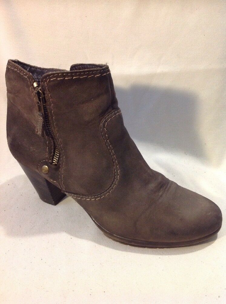 Franco B. Brown Ankle Leather Boots Size 39