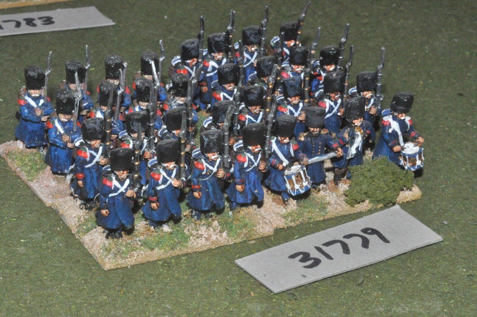 25mm napoleónicas francés-Guard Granaderos 32 figuras-INF (31779)
