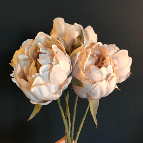 Dusky peach fausse soie pivoine-individuelle artificielle vintage peach pivoine rose