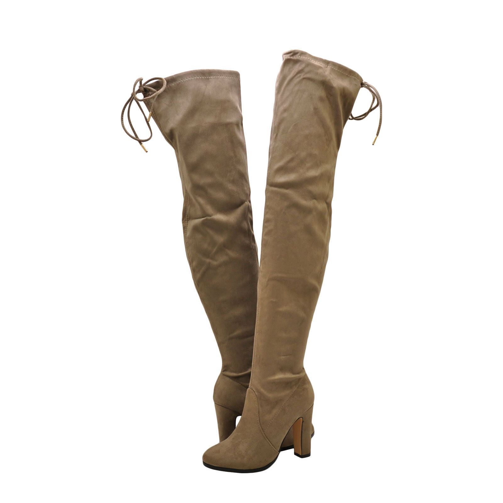 Womens shoes Cape Robbin Mona 1 Faux Suede Thigh High Boot Khaki New