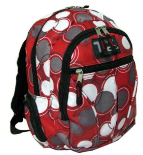 Cercles rouges Sac À Dos École Pack Sac Neuf 282PB Petit Enfant Taille