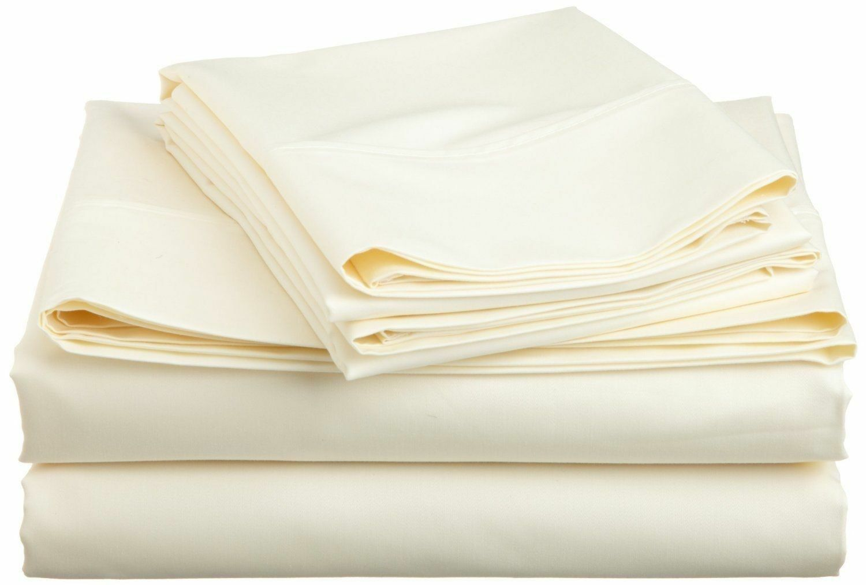 Ivory Solid All Bedding Sets Items Choose Größe & Item 1000 TC Pure Egypt Cotton