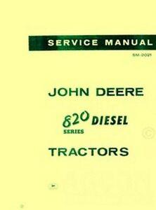 john deere and diesel tractor service shop manual jd image is loading john deere 820 and 830 80 diesel tractor