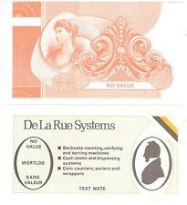 England De La Rue 10 Pound Series D 1975-1994 UNC Test Note Banknote - Orange