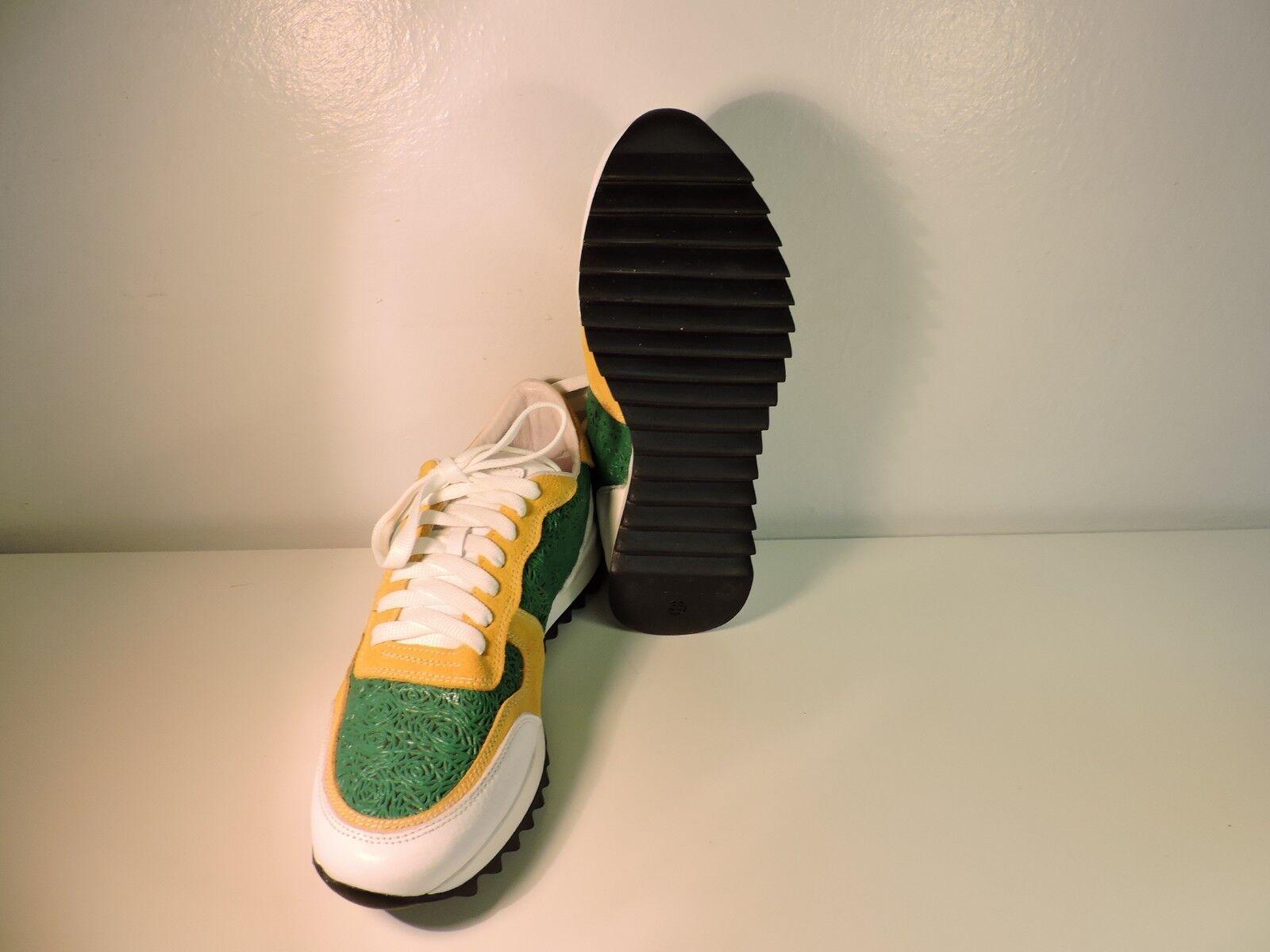 Schuhe GINNASTICA DA GINNASTICA Schuhe SNEAKERS IN PELLE MARCA TONI RUNNING fantasia a tre colori 06aeaa