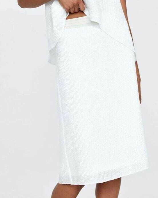 Blanc Paillettes Jupe Crayon Par Zara Taille S Bnwt