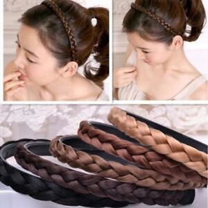 Fashion-Girls-Women-Hair-Braided-Plaited-Headband-Synthetic-Hairband-Accessories