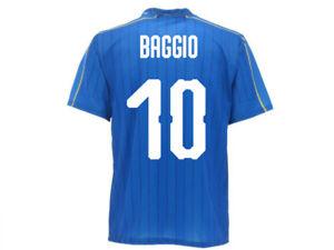 Maillot-Officiel-Italie-Baggio-Equipe-Nationale-Federation-Figc-Roberto-10-Queue