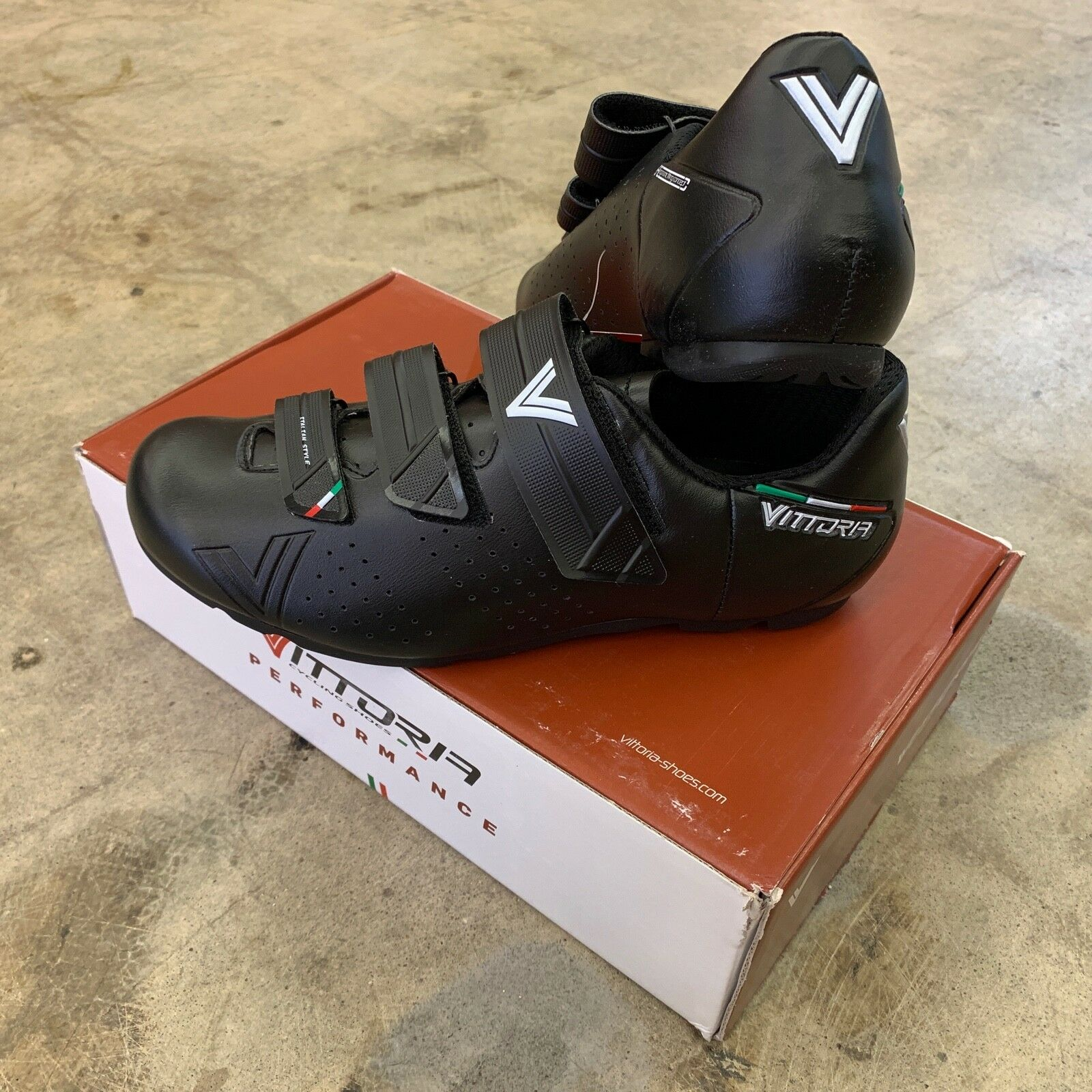 Vittoria Rapide GT Road TouRing Spin Cycling schoenen Zwarte Grootte 45