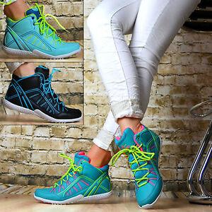 Damen Freizeitschuhe Schuhe luxus Sportschuhe Sneaker 7426 Blau Multi 37