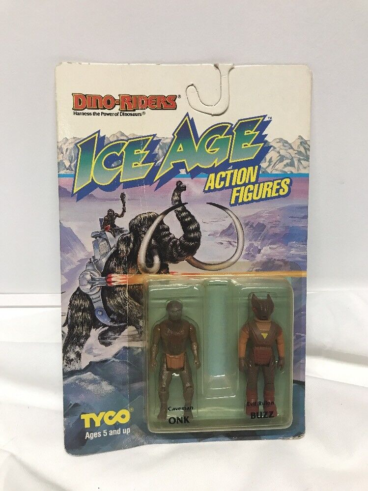 VINTAGE 1990 TOY DINO-RIDERS ICE AGE ONK & BUZZ  BY TYCO  NEW SEALED