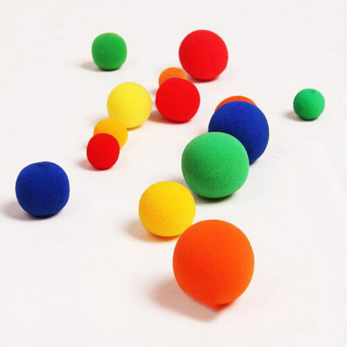 10x Finger Magic Props Sponge Ball Close-UP Street Illusion Stage Comedy TricGK