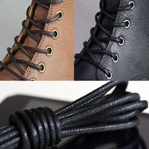 2 pares de cordones redondos encerados cordones cuero 27,6 ''