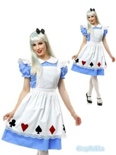 C2 Alice In Wonderland Pretty Card Alice Womens Fancy Costume