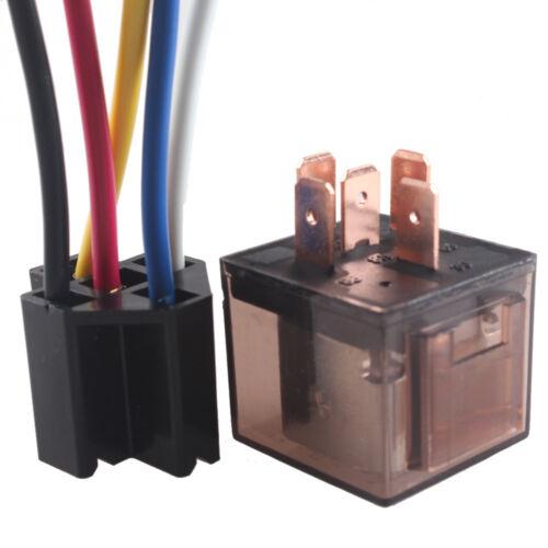 12V 80A 5 Polig 5 Wire Umschalter Wechselrelais Arbeitsstromrelais /& Socket AT