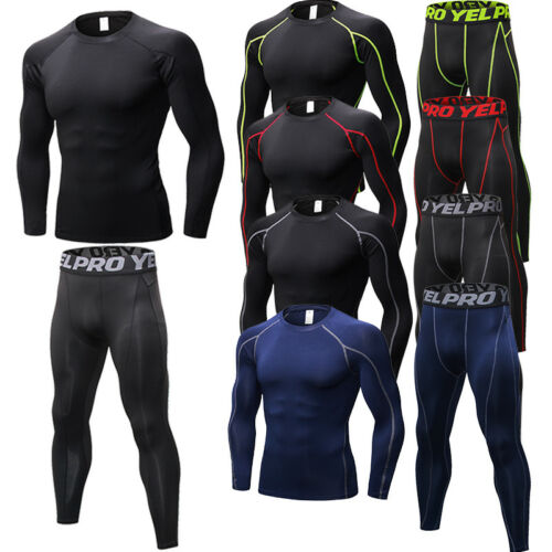 Men/'s Compression Activewear Base Layers Dri-fit Running Tights Quick-dry Pants
