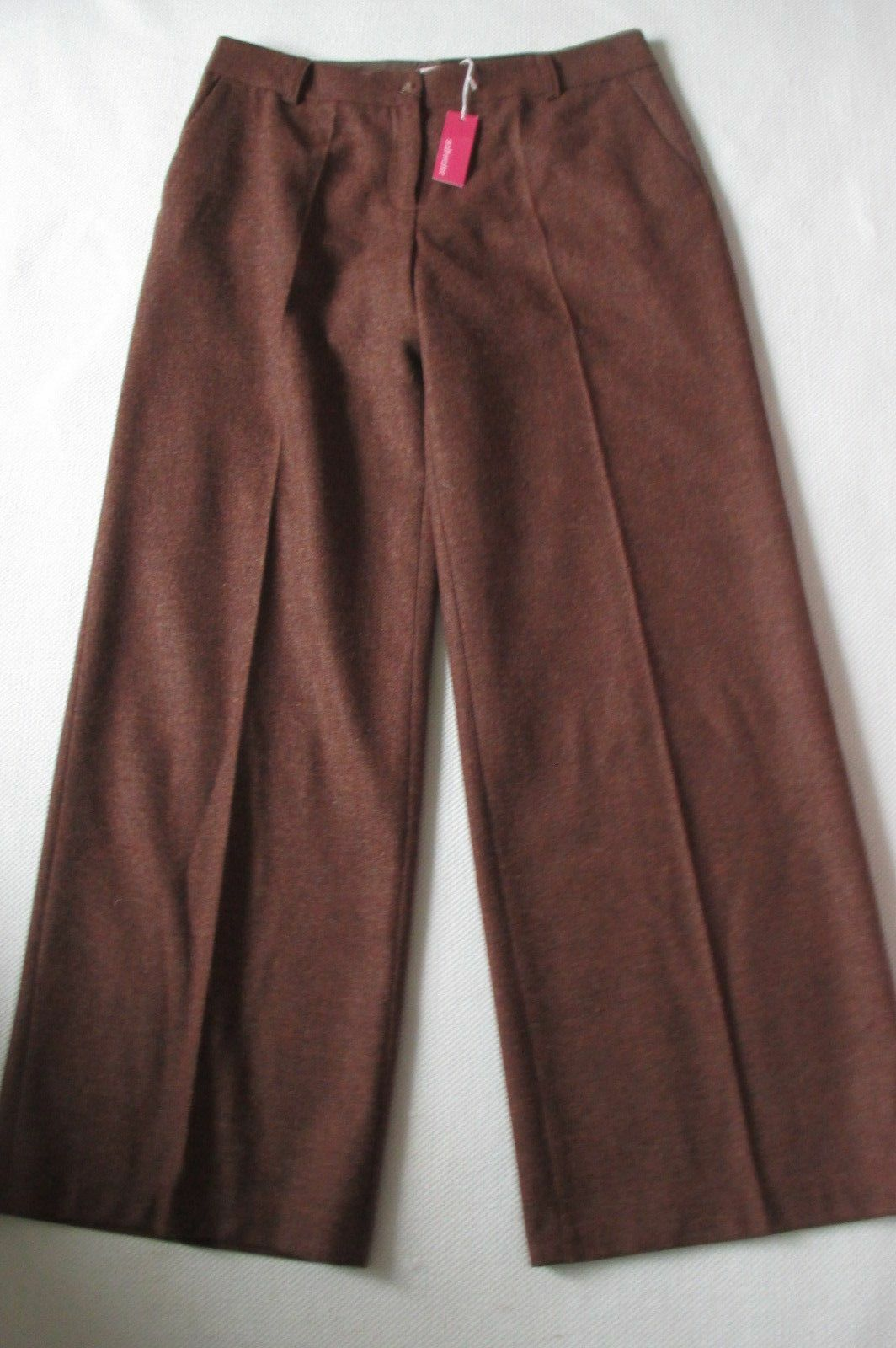 Saltwater rust brown  trousers size16, part lined, BNWT, fasten with front zip