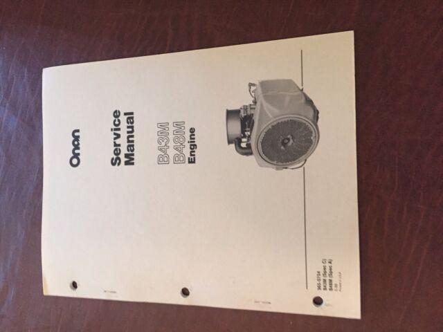 Onan Service Manual B43M B48M Engine