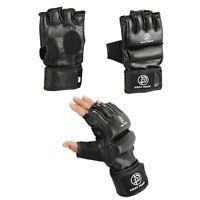 Krav Maga Black Vinyl Grappling Gloves Striking Training Martial Arts Fighting