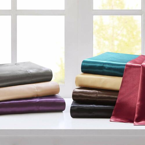 Satin Silk 3 PC Duvet Cover Set All UK Sizes 600 Thread Count All Colors
