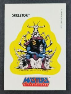 Vintage 1984 Masters of the Universe Skeletor Topps Sticker Card #12