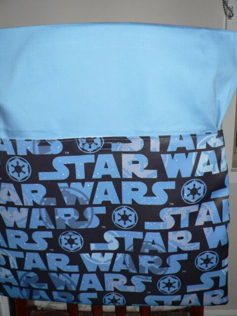 Handmade chair bag Star Wars Blue Print  first name embroidered free