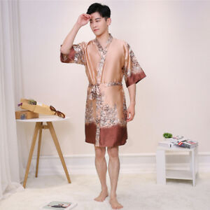 Pigiama M033 Pjs Fashion Satin Camicia Mens Sleepwear Nwt accappatoi da e Silk notte qnw4ICn7xa