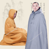 Thicken Warm Buddhist Meditation Zen Monk Shaolin Cotton Cloak Robe Long Gown