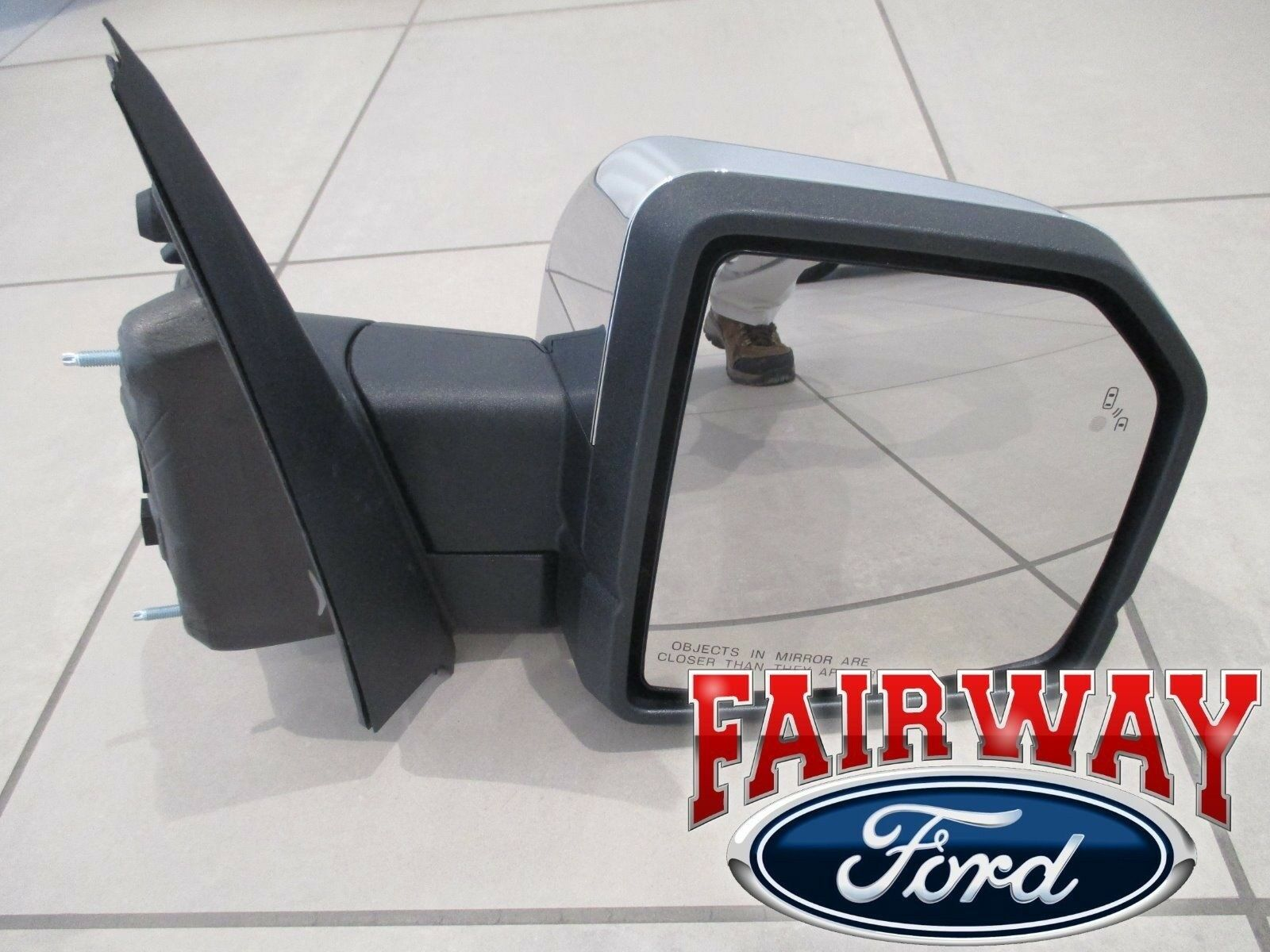 Fit System 61205F Ford F-150 Passenger Side OE Style Replacement Mirror with LED Arrow Turn Signal