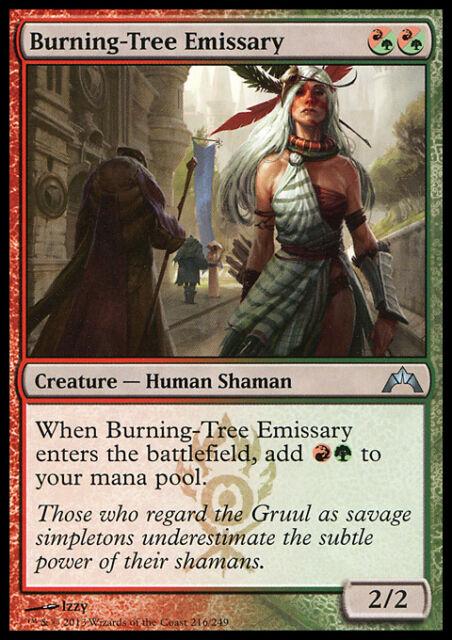 BURNING-TREE EMISSARY NM mtg Gatecrash Red/Green Human Shaman Unc