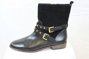 Coach-Lilliana-Motorcycle-Black-Leather-Suede-Mid-Calf-Boots-7-5-MSRP-250-NEW