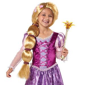 Image is loading New-Disney-Store-Rapunzel-Tangled-The-Series-COSTUME-  sc 1 st  eBay & New Disney Store Rapunzel Tangled The Series COSTUME WIG FOR KIDS | eBay