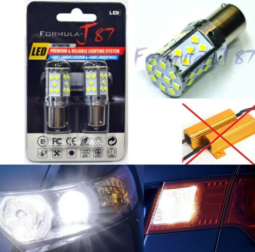 Canbus Error Free LED Light 1156 White 6000K Two Bulbs Rear Turn Signal Fit OE