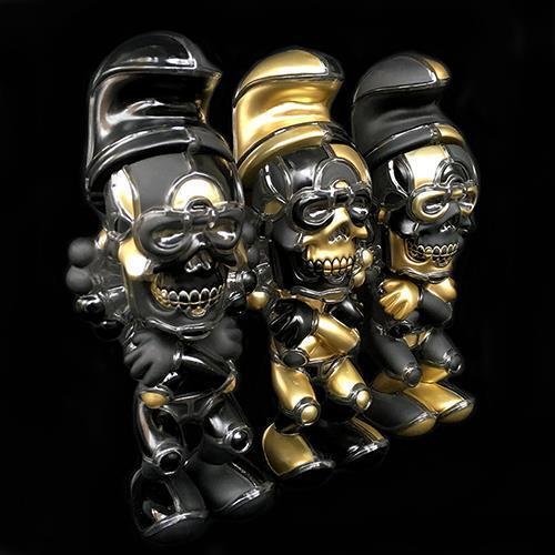 3 VARIANTS SET DAVID FLORES DEATHEAD SMURK STAY GOLD FIGURES BY BLACKBOOK TOY