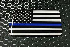 "THIN BLUE LINE Domed Decal Proud USA police Flag Emblem Car Sticker 3D 3.1""x 2"""