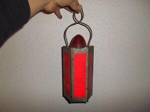 Ancienne-Lampe-Lanterne-M-A-D-Romainville-Industrielle-Lustre-deco-loft-Mineur