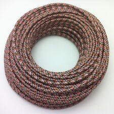100m Design Textilkabel Stoffkabel Lampenkabel Multicolor 3x0,75 Top EU Qualität