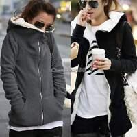 Fashion women Zip Up Tops Outerwear Hoodie Sweatshirt Coat Long Sleeve Jacket